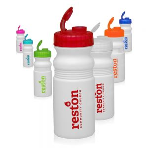 20 oz. Flip Top Plastic Bike Water Bottles
