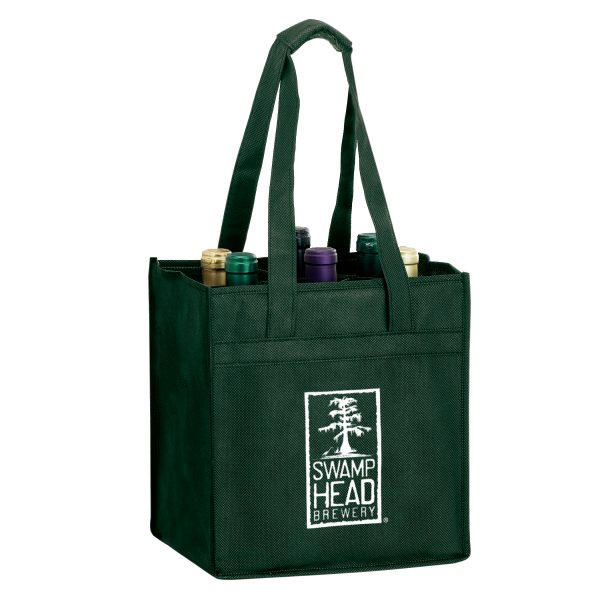 Six Bottle Non Woven Wine Tote Bag
