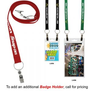 "3/4"" Recycled Econo Dual Attachment Lanyard"