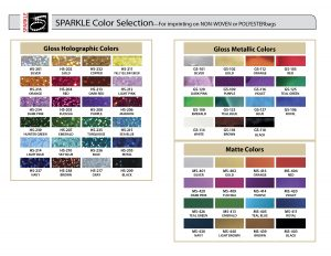 Sparkle Color Chart