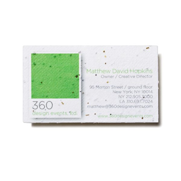 Seed paper business card custom green promos plantable promos seed paper business card psb colourmoves