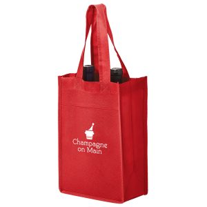 Two Bottle Non Woven Wine Tote Bag
