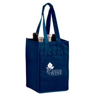 Four Bottle Non Woven Wine Tote Bag