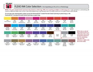 Flexographic Ink Color Chart
