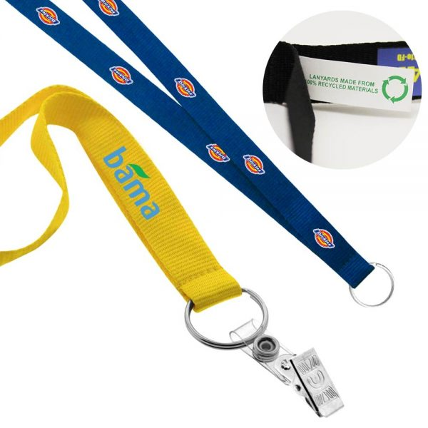 "3/4"" Recycled Screen Printed Lanyard"