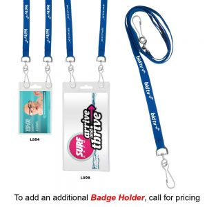 """3/8"""" Recycled Econo Dual Attachment Lanyard"""