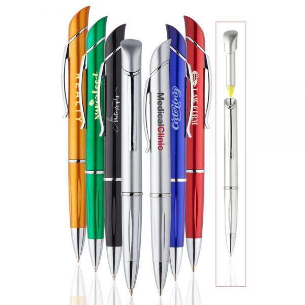Allende Twist Plastic Pens with Highlighter ABP931